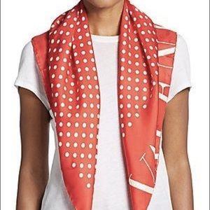 VALENTINO Polka dot silk scarf